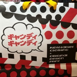 川尻店からオリジナルプリントロンパース&キャンディ紙袋の新作が出来上がりました♡